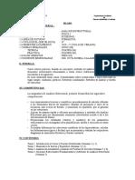 Syllabus Analisis Estructural 2019-V