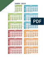 Calendario - 31-03-19
