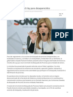 18-05-2019 Promueve Pavlovich Ley Para Desaparecidos-Diario Noticias
