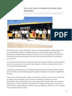 19-05-2019 Cumple Gobernadora Con Nuevo Transporte Escolar Para Las Comunidades Apartadas-Canal Sonora