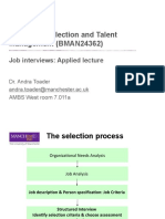 2. Job Interviews Applied Lecture