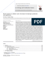 Recent progress in alkaline water electrolysis for hydrogen production and applications.