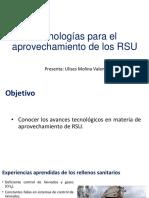 Tecnologías de aprovechamiento de los RSU