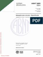 NBR 07211 2009 - Agregados Concreto - Especificação
