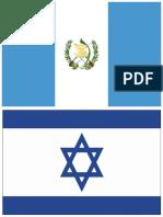 Bandera de Guatema e Israel