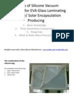How-To of Siliocne Vacuum Bag Sheet for Eva Glass Laminationg and Solar Encapsulation