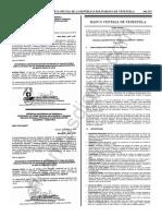 Gaceta Oficial 41635 Estudio Comparativo Tarjetas Credito Debito