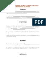 Contrato de Trabajo Para La Práctica Profesional Del Fútbol1