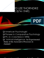 Thorndike's Theory of Personality