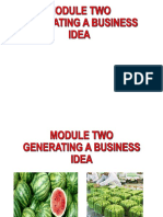 Generating a Business Idea