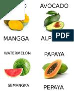 Fruit Card Print