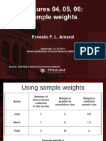 Ernesto L. Amaral - Sample Weights (Texas a y M. University)