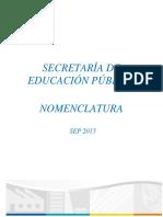 Nomenclatura SEP 2015