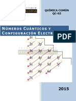 Números Cuanticos y Configuración Electrónica PDV