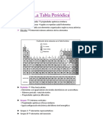 2- Resumen Tabla Periódica