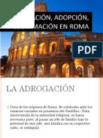 ADROGACION,ADOPCION Y LEGITIMACION EN ROMA.pptx