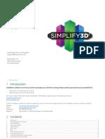 Quickstart Manual - Simplify3D v9