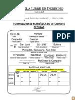 Formularios de Prematricula 2018 2