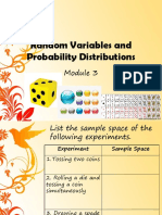 MODULE 6 Random Variables and Probability Distributions