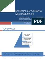8. External Governanc Mechanism II PPT - Alek, Fawwaz, Kemas