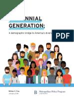2018 Jan Brookings Metro Millennials a Demographic Bridge to Americas Diverse Future