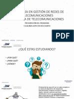Tecnología en Gestión de Redes de Telecomunicaciones. w
