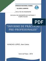 Informe de Practica Pre Profesionales