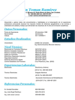 Curriculum Elvin Tomas Ramirez