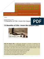 73 Benefits of Zikr Imam Ibn Qayyim Ra.html