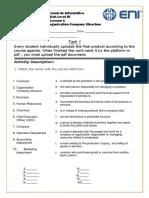 Task 1 Lesson 1 Organization Company Structure