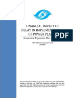 Financial Impact of Delay in Implementation of Power Plants