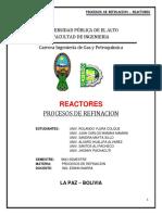 REACTORES - 9 PROCESOS DE REFINACION.docx