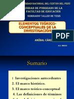 (II) Elementos Teóricos-conceptuales de La Investigacion