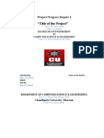 Format of the Second Progress Report for Project.docx