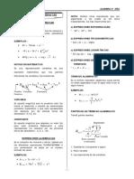 Algebra 4º - Expresiones Algebraicas