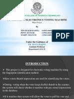 finger print electronics voting machine (EVM)
