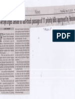Manila Bulletin, May 23, 2019, Arroyo urges Senate to fast-track passage of 11 priority bills approved by House.pdf