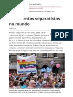 movimentos separatistas no mundo