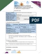 Guía de Actividades y Rúbrica de Evaluación - Fase 1 - Reconocer Conceptos Básicos