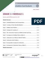 Grade 1 Math Module 1