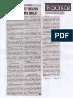 Philippine Daily Inquirer, May 23, 2019, Sara Duterte ubfazed by Cayetano's threat.pdf