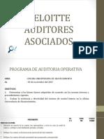Diapositiva de Programa de Auditoria