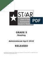 2018 STAAR Gr5 Reading Test