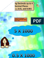 Dividing Decimals Up to 4 Decimal Places by 0.1, 0.01, And 0.001