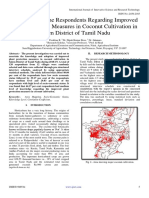 Knowledge of the Respondents Regarding Improved Plant Protection Measures in Coconut Cultivation in Salem District of Tamil Nadu