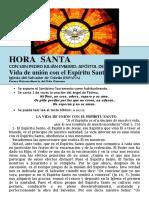 Vida de Unión Con El Espírirtu Santo (72) HORA SANTA Con San Pedro Julián Eymard.