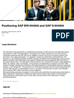 19 04 24 Positioning Sap Bw4hana and Saps4hana