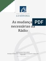 As mudanças necessárias da Rádio