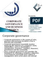 Project on corporate governance and business ethics