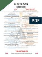 Revista Advertencias y Despertar de Ifa 2019.